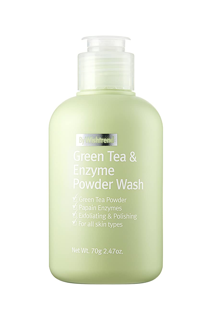 とお勧め奇跡BY WISHTREND(バイ?ウィッシュトレンド) グリーンティー&エンザイム?パウダーウォッシュ, Green Tea & enzyme Powder Wash 70g [並行輸入品]