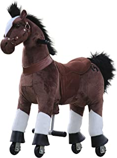 Medallion - My Pony Ride On Real Walking Horse for Children 3 to 6 Years Old or Up to 65 Pounds (Color Small Chocolate Horse) for Boy and Girl Newest Model Play Horse Toy of The Year 2018