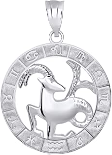 Sterling Silver Zodiac Pendant