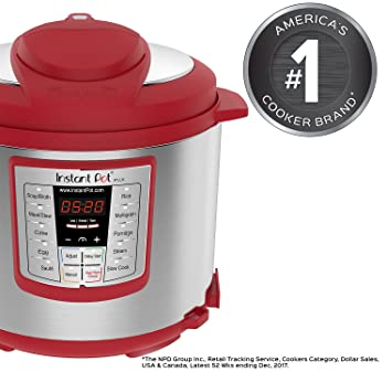 Instant Pot Lux 6 Qt  6-in-1 Muti-Use Programmable Pressure Cooker, Slow Cooker, Rice Cooker, Sauté, Steamer, and Warmer