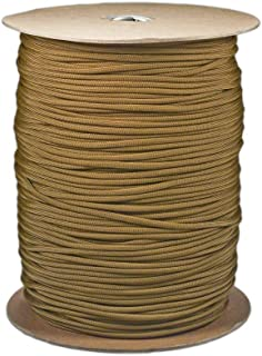 SGT KNOTS Paracord Type 1 1//16 inch Camping - 1 Strand 100/% Nylon Core and Shell 95 lb Tensile Strength Utility Cord for Crafting Tie-Downs 1.85mm