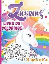 LICORNES /livre de coloriage /3 ans et +: ♥Voici un magnifique livre de 50 coloriages de jolies Licornes pour les Tout-Pet...