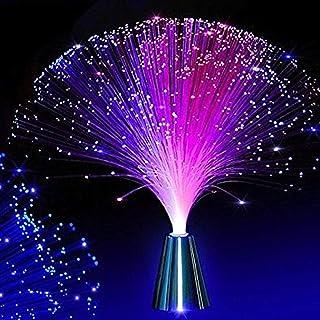 FuYouTa Luce a fibre ottiche Lampada lampada a fibre ottiche Bellissima lampada a luce notturna a LED a fibra ottica con cambio di colore a fibra ottica romantica