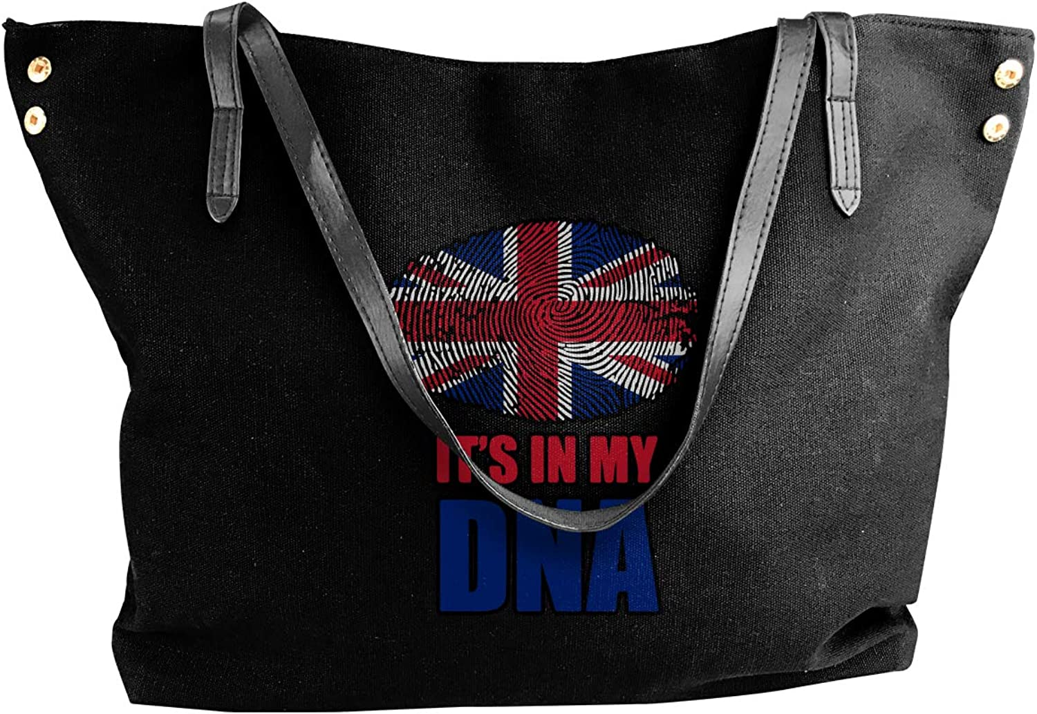 British It's In My DNA Women'S Casual Canvas Sling Bag For Travel Work Bag