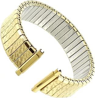 16-21mm Speidel Gold Tone Textured Stainless Twist-O-Flex Mens Band 698/33 XL