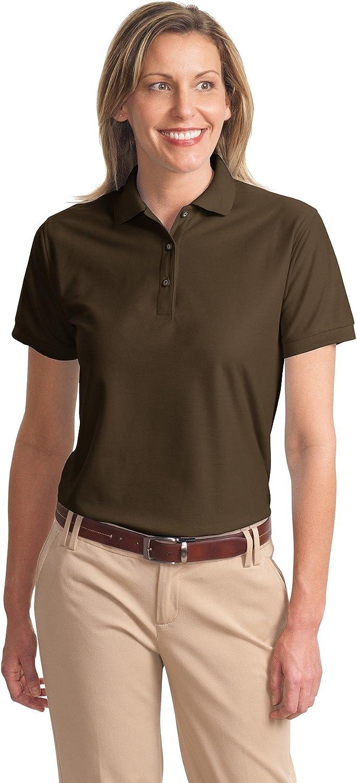 Ladies Silk Touch Sport Shirt, Color: Coffee Bean