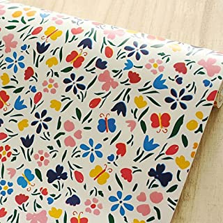 SimpleLife4U Colorful Butterfly Floral Contact Paper Peel & Stick Shelf Liner 17.7 Inch By 9.8 Feet