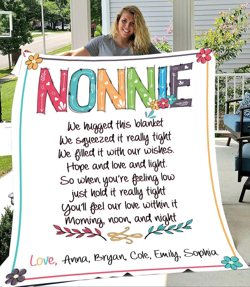 Nonnie We Hugged Max 88% OFF This Blanket with Kid's N Personalized Popular popular Grandma