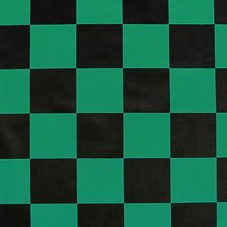 家で人気のある市松模様生地チェック柄ブロード和柄グリーン×ブラックNBK生地クロス..ランキングは何ですか