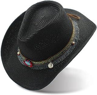Kimloog Women Mens Summer Short Brim Straw Fedora Beach Sun Hat Jazz Cap