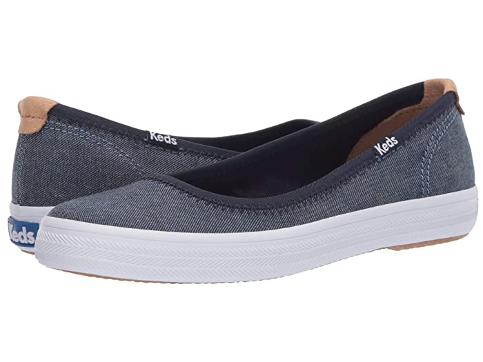 Keds  Bryn Chambray (Navy) Womens Slip on  Shoes