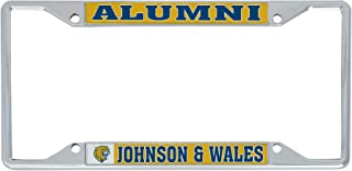 Desert Cactus Johnson & Wales University JWU Wildcats NCAA Metal License Plate Frame for Front Back of Car Officially Licensed (Alumni)