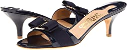 Salvatore Ferragamo - Patent Leather Kitten Heel Sandal