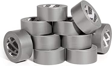 New: Heavy Duty Silver Duct Tape - 10 Roll Multi Pack Industrial Lot – 30 Yards x 2 inch Wide – Large Bulk Value Pack of Grey Original Extra Strength, No Residue, All Weather. Tear by Hand