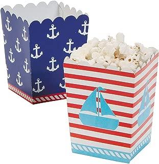 Fun Express Nautical Sailor Mini Popcorn Boxes - 24 ct
