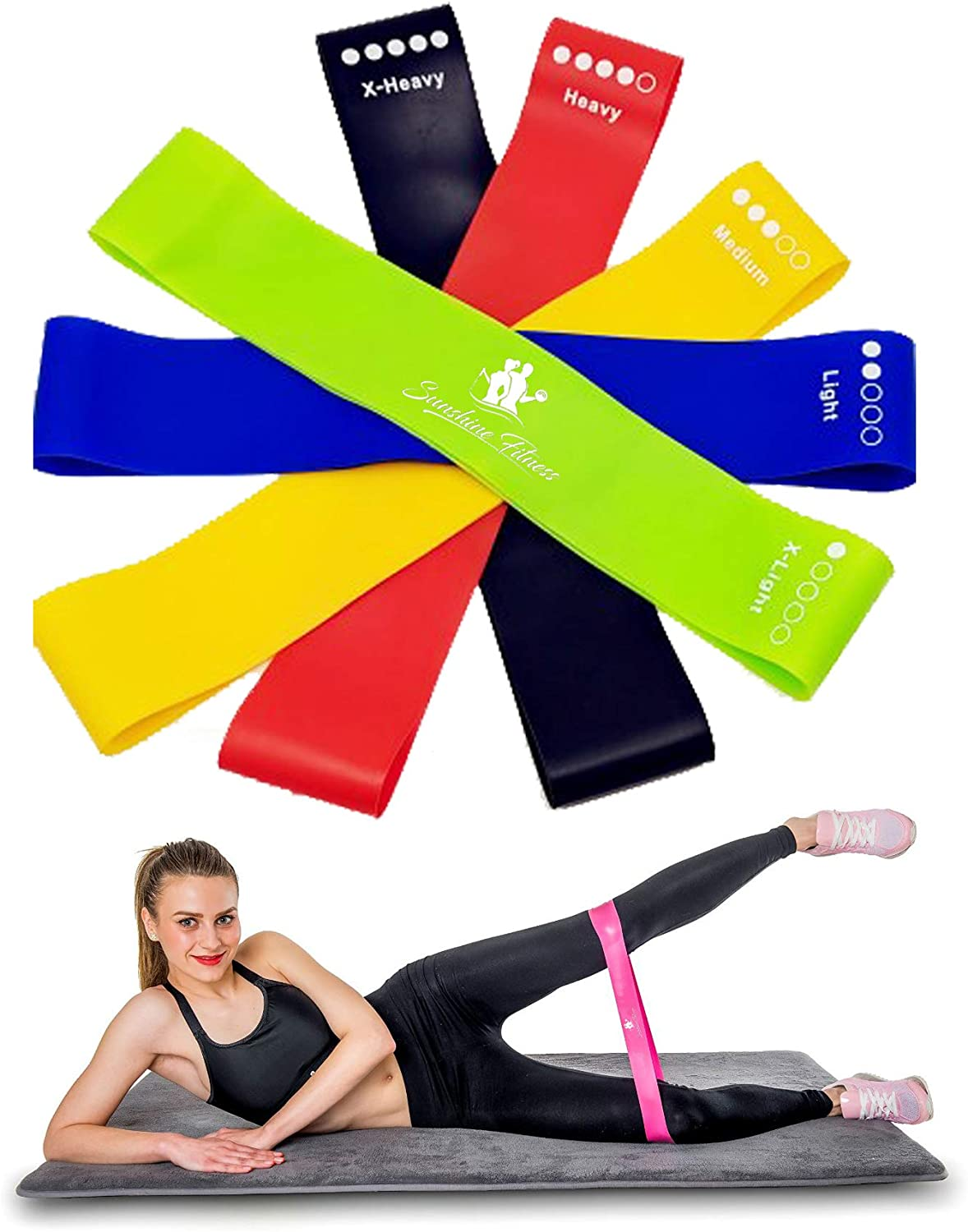 Sunshine Fitness Resistance Loop Bands Elastic Slip Max 87% OFF Exerci - Non Super beauty product restock quality top!