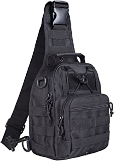 Qcute Tactical Bag, Single Shoulder Messenger Bag, Chest Bag, Casual Office Tactical Satchel, Small Tool Backpak, Bag Which is Suitable for Carrying ipad, Smart Phone, Wallet and Daily Necessities