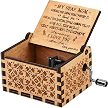 U R my sunshine Music Box best Gift for my dear Mom from Son Vintage Wood Hand Crank musical box for Birthday thanksgiving days Christmas