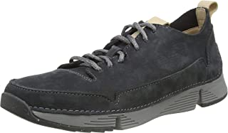 Clarks Men's Tri Spark Dark Grey Leather Sneakers