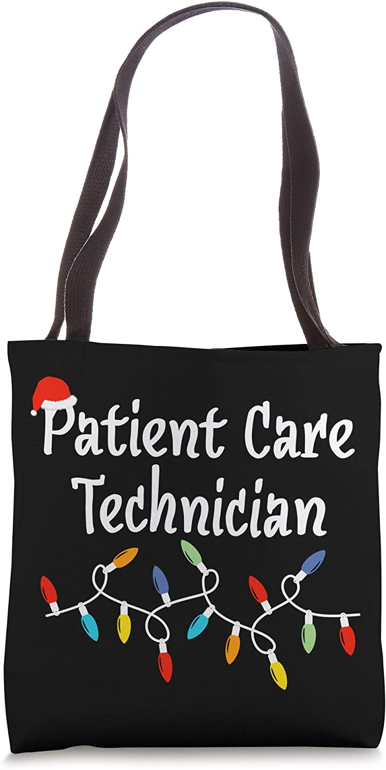 Christmas Lights Patient Care Technician PCT Holiday Gift Tote Bag