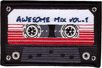 Iron on Awesome Mix Tape Cassette Retro 80's Galaxy Guardians Old School Jacket Patch