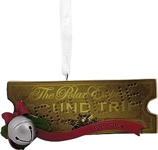 Hallmark Christmas Ornaments, The Polar Express Ticket Personalized Ornament