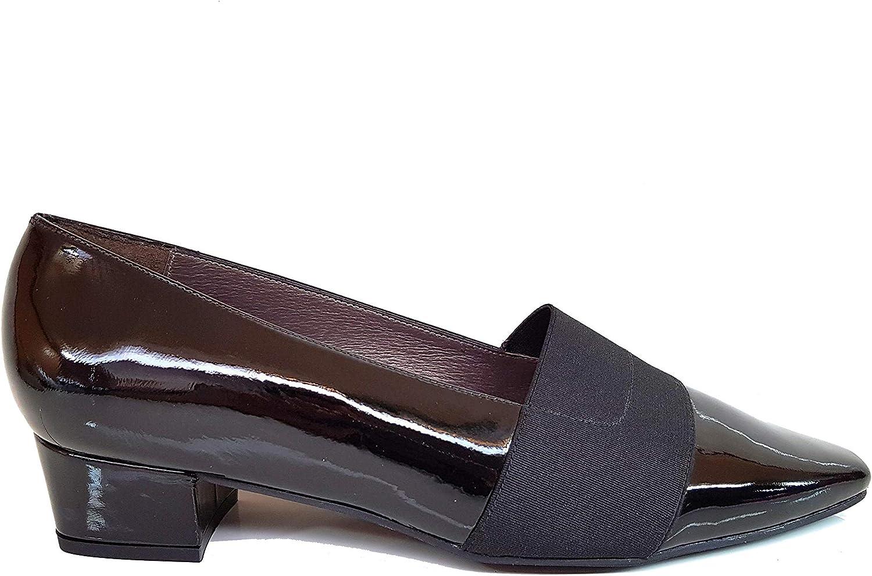 Gennia RATEJO - Damen Schwarz Pumps Schuhe Schuhe + Blockabsatz 3 cm + Spitz Spitze + Elastischer Verschluss  100% nagelneu mit ursprünglicher Qualität