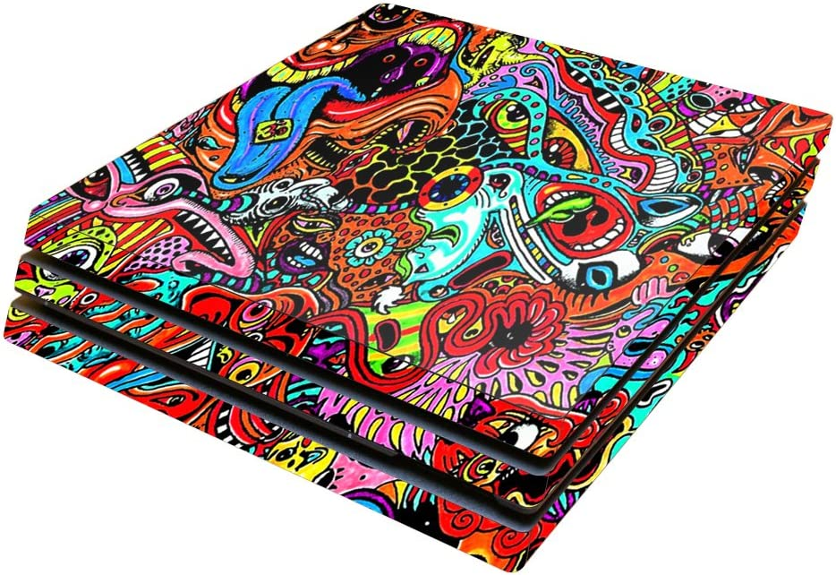 MightySkins Skin Compatible with Sony PS4 Pro Console - Acid Trippy | Protective, Durable, and Unique Vinyl Decal wrap Cover | Easy to Apply, Remove, and Change Styles | Made in The USA