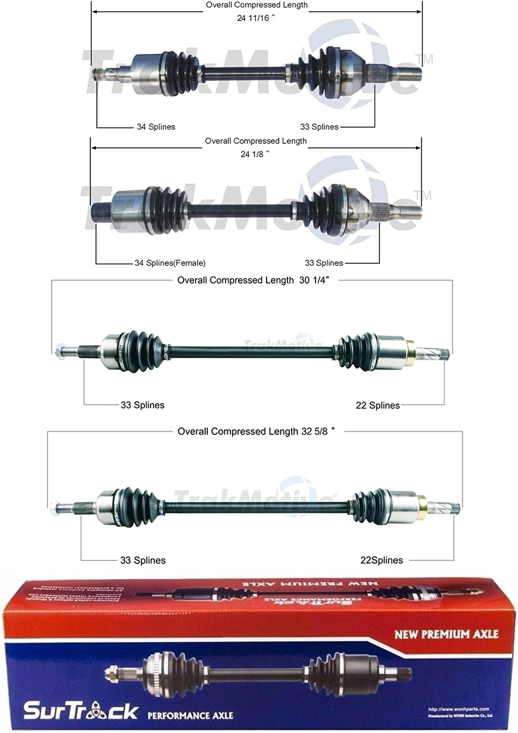 SurTrack Set of Front Rear CV Axle 2 For KIT Vue sold Our shop most popular out Shafts Saturn