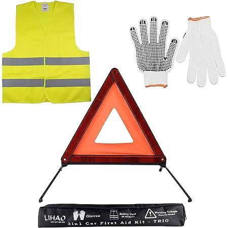 Kit Gilet Triangle Kit De Securite Voiture Ventilation Kit Pour Voiture Voiture Kit Kit voiture De S/écurit/é Voiture Voyage Kit