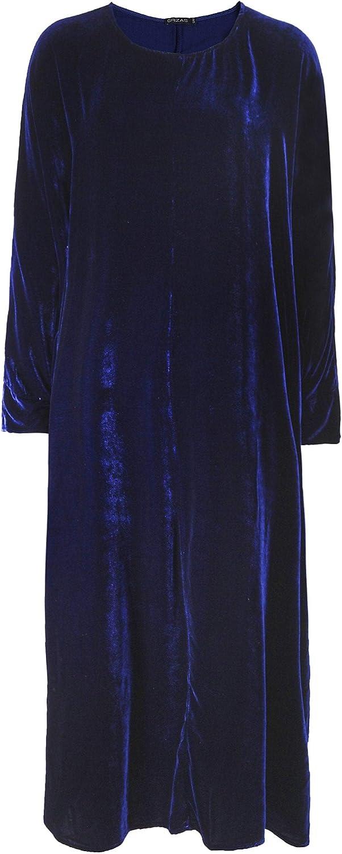 Grizas Women's Velvet Midi Dress Indigo