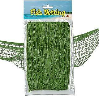 Nautical Fish Netting Party Decor 4' x 12' MOSS GREEN