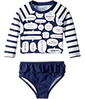 Kate Spade New York Kids - Speech Bubble Rashguard Two-Piece (Infant)