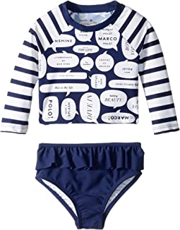 Speech Bubble Rashguard Two-Piece (Infant)