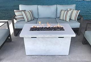 Century Modern Outdoor Cast Concrete Propane/Natural Gas Fire Pit Table (Natural Concrete)