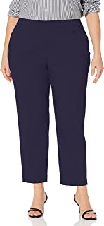 Alfred Dunner Women's Allure Slimming Missy Short Stretch Pants Modern Fit