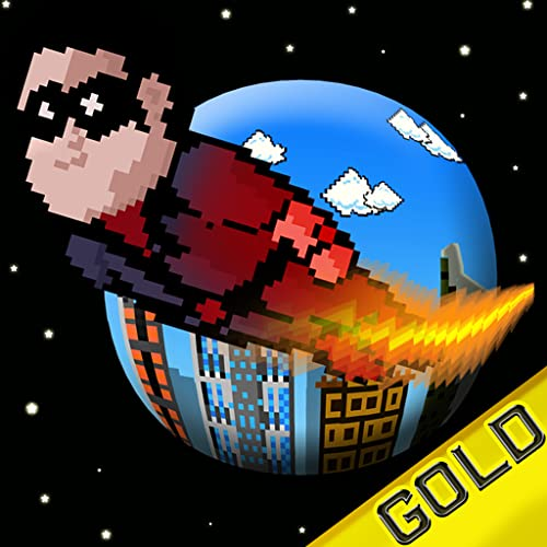 Pixel Heroes - The rocket man fighting super villains - Gold Edition