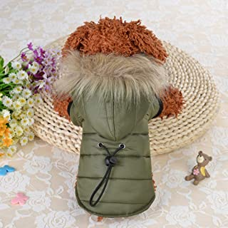 RONSHIN Small Clothes with Cap Warm Jacket Costume Coat for Fall Winter Small Dog Pets Clothing