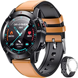 """AGPTEK Smartwatch Fitness Watch for Men Women with Replacement Strap Touchscreen 1.3"""" Heart Rate Monitor Wrist Pedometer A..."""