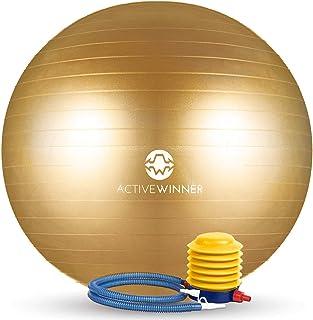 Active Winner バランスボール 65/55cm アンチバースト 分厚い 滑り止め加工 フットポンプ付 ヨガ ピラティス 筋トレ ストレッチ オフィスチェア