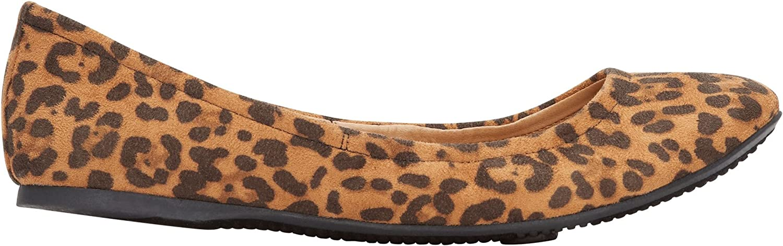 Rohb by Joyce Azria Corsica Round Toe Ballerina Flat (Leopard)