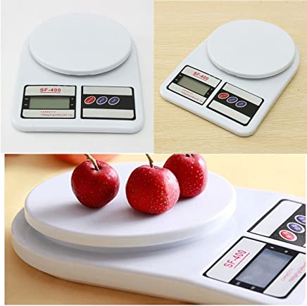 KEIR Electronic Digital Kitchen Weighing Scale, Kitchen Scale Digital Multipurpose (White, 10 Kg)