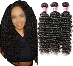 Deep Wave Brazilian Hair Weave Bundles Remy Hair Weaving Human Hair Extension 1B Natural Black 100g/Piece/lot DHL/Fedex,26 26 26,Natural Color