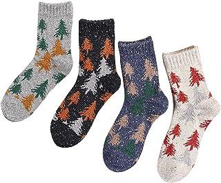 4 Pares Calcetines De Navidad para Mujer Calcetines Ocasionales Respirables Calcetines De Algodón para Navidad