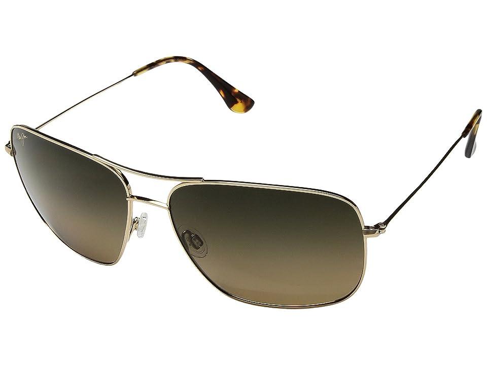 Maui Jim Cook Pines (Gold/HCL Bronze) Athletic Performance Sport Sunglasses