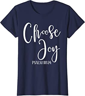 Choose Joy - religious t-shirt for women and kids
