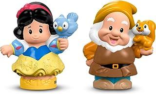 Fisher-Price Little People Disney Princess Snow White y figura de enano