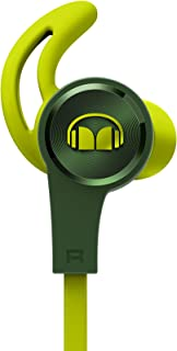 Monster iSport Achieve - Auriculares Tipo In-Ear cableado con micrófono, Color Verde