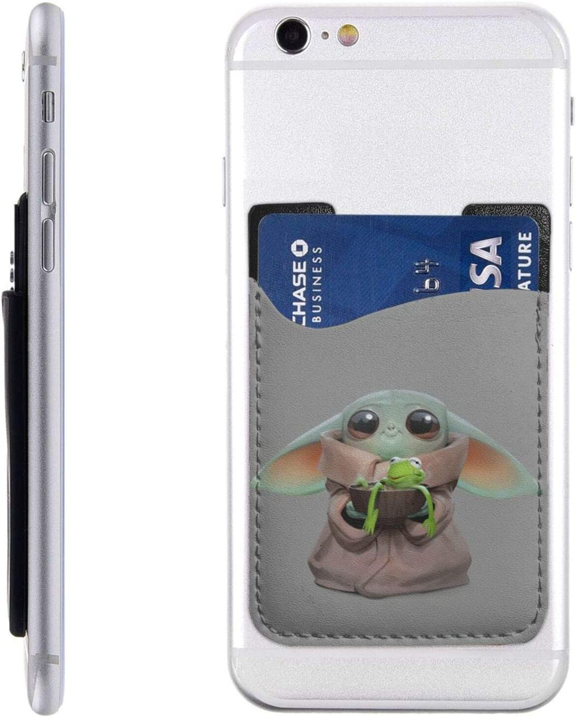 Baby-YoDa Cell Phone Card Holder At the price Wallet Las Vegas Mall Credit Stick-On Id