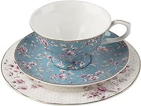 Katie Alice Ditsy Floral Teal Afternoon Tea Set, Bone China 7 x 19 x 19 cm